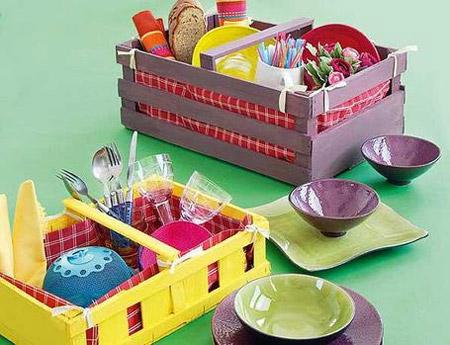 Decorar con cajas de fruta no es m s de lo mismo - Cajones de fruta de madera ...