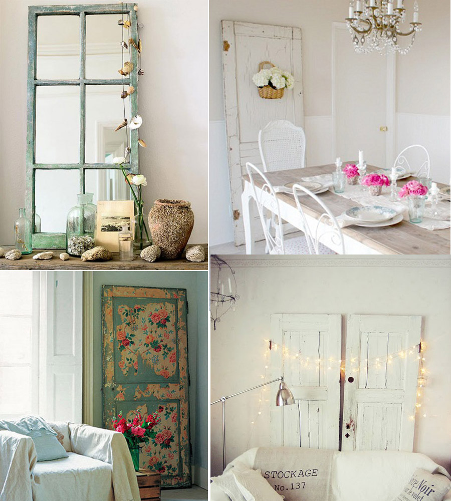 Decorar con puertas antiguas placer vintage no es m s - Como decorar pared con fotos ...