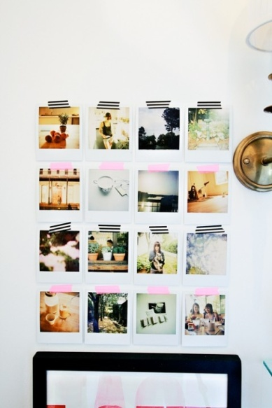 Decorando con Polaroids