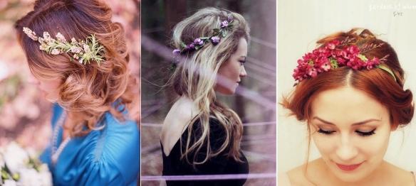 Flores en el pelo